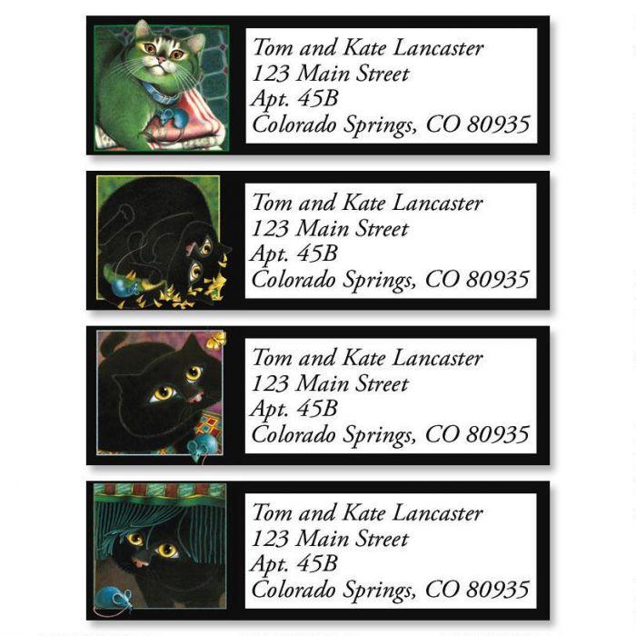 A Cat Never Tells Classic Return Address Labels  (4 Designs)