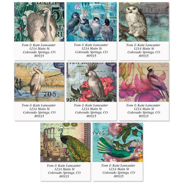 Birds of Finchley Select Return Address Labels  (8 Designs)