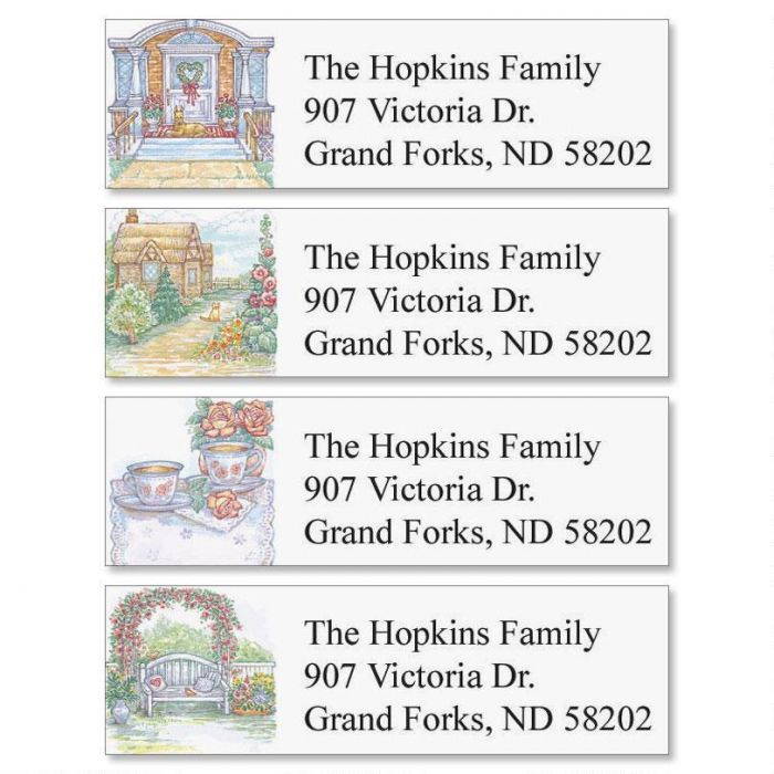 My House To Yours Classic Return Address Labels  (4 Designs)