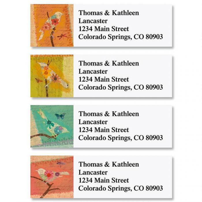 Tweet Silhouettes Classic Return Address Labels  (4 Designs)