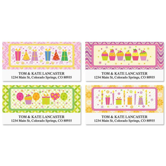Delightful Day Deluxe Return Address Labels  (4 Designs)