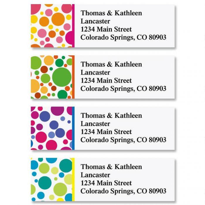 Bright Bubbles Classic Return Address Labels  (4 Designs)