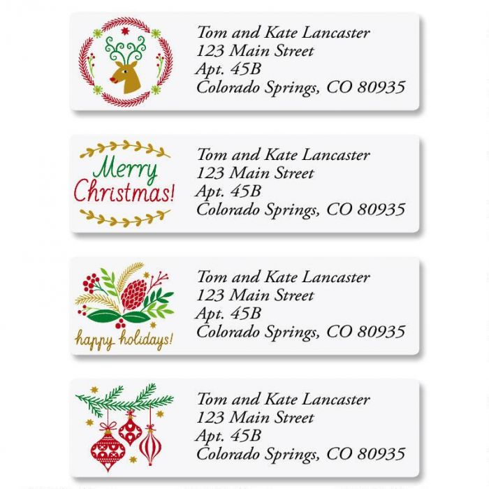 Salutations Classic Return Address Labels  (4 Designs)