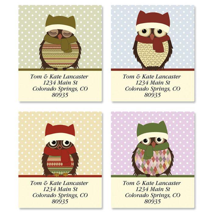 Happy Owlidays Select Return Address Labels  (4 Designs)