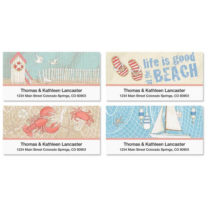Coastal Deluxe Return Address Labels  (4 Designs)