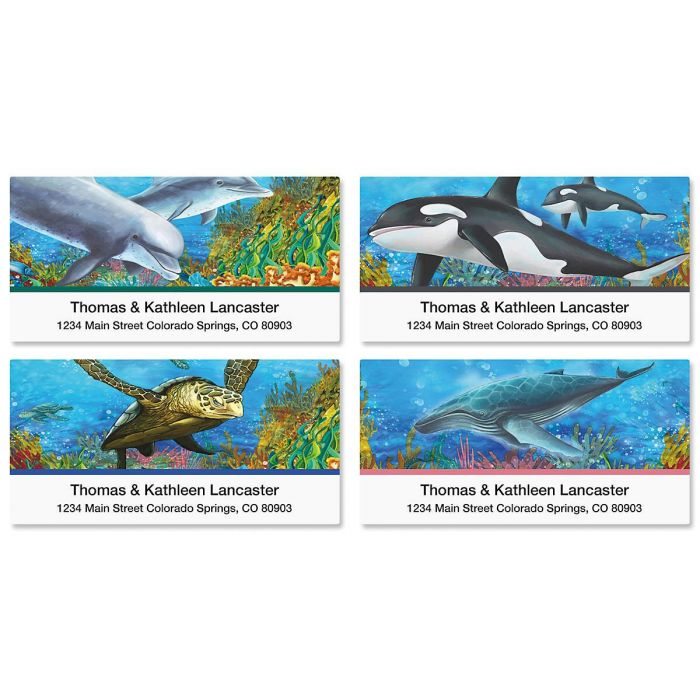 Under the Sea Deluxe Return Address Labels   (4 Designs)