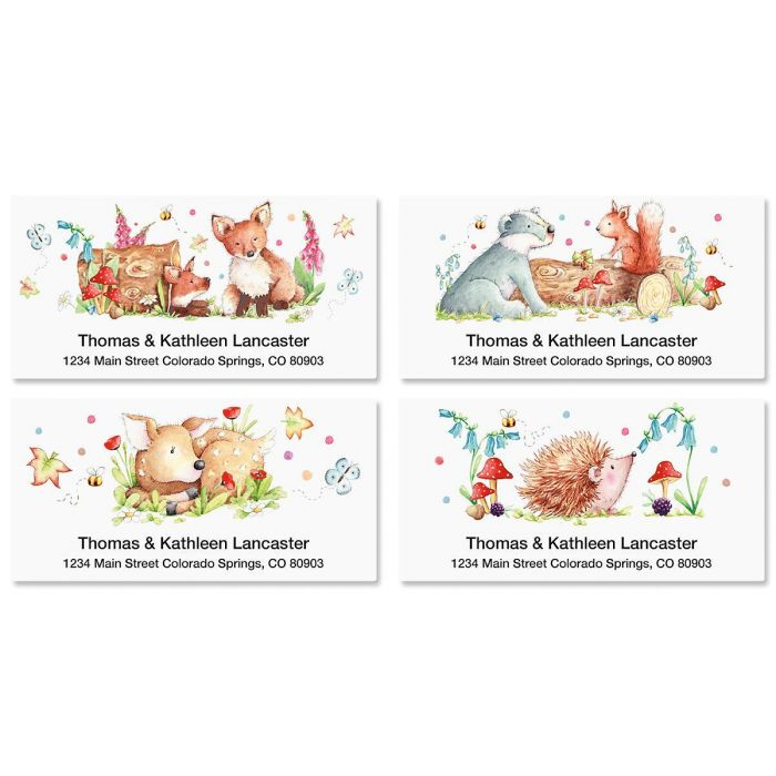 Woodland Animals Deluxe Return Address Labels  (4 Designs)