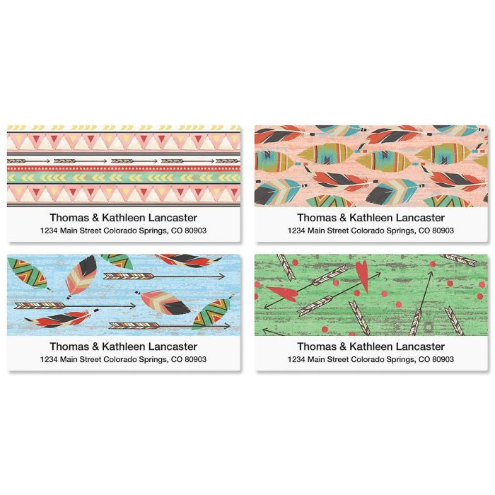 Urban Tribal Deluxe Address Labels  (4 Designs)