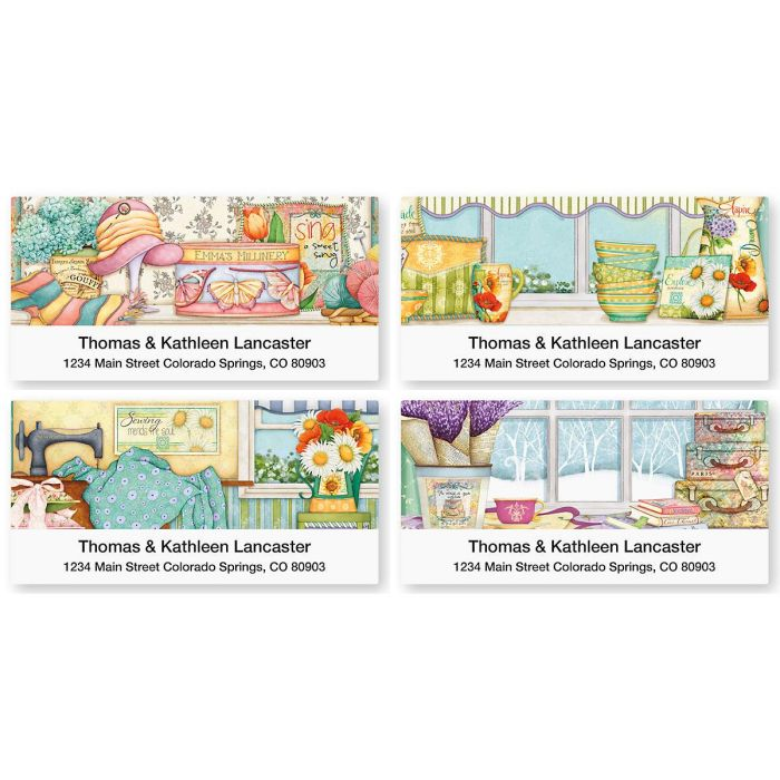 Cozy Comforts Deluxe Return Address Labels  (4 Designs)