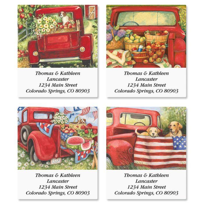 Red Truck Select Return Address Labels  (4 Designs)