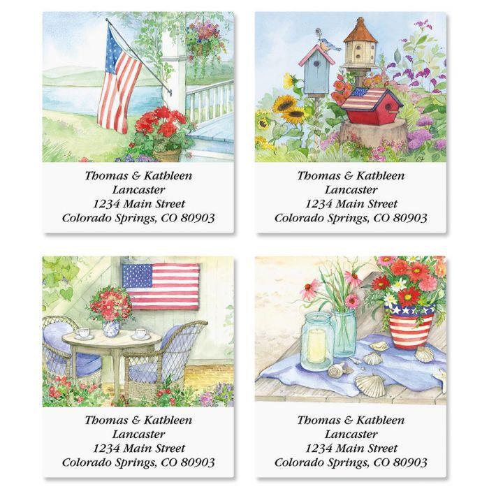 Land of Liberty Select Return Address Labels  (4 Designs)