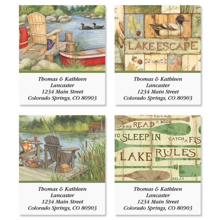 Lakeside Select Return Address Labels  (4 Designs)