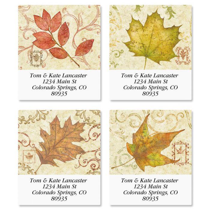 Fallen Leaves Select Address Labels  (4 Designs)
