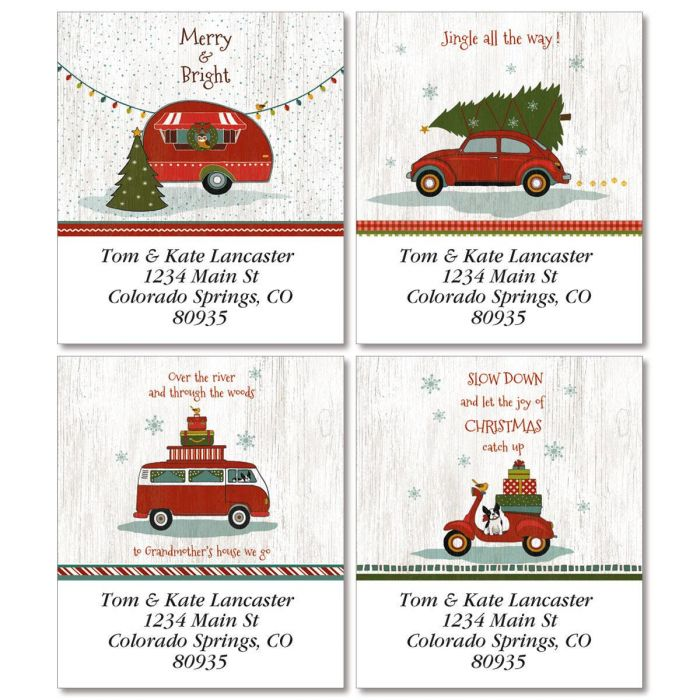 Holiday Highway Select Return Address Labels  (4 Designs)