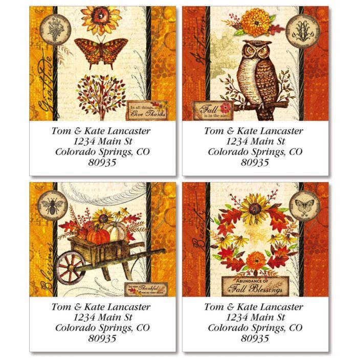 Autumn Beauty Select Return Address Labels  (4 Designs)