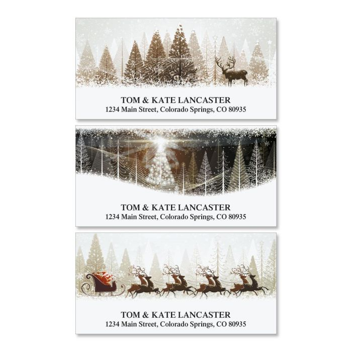 Winter Banners Deluxe Return Address Labels  (3 Designs)
