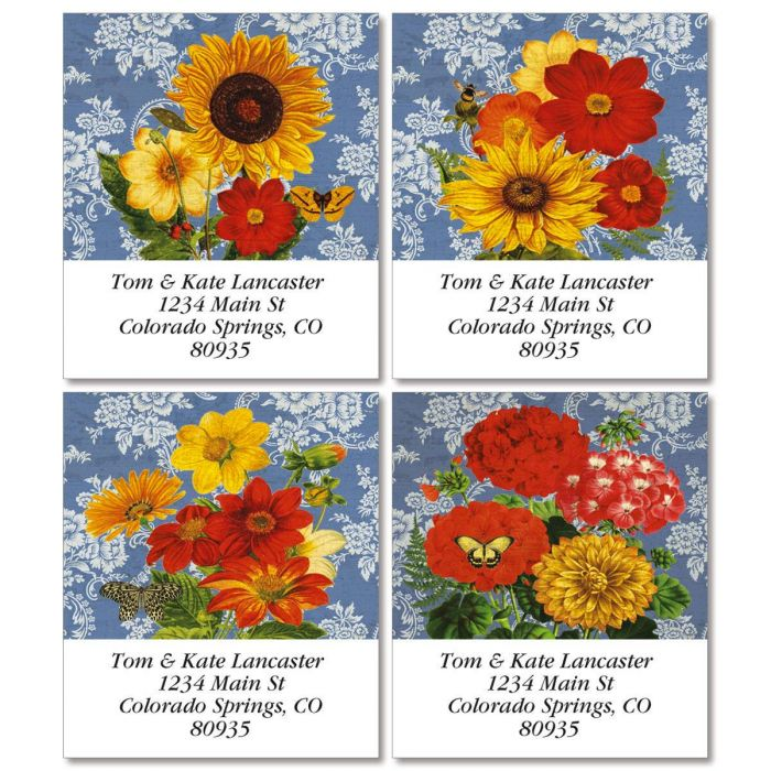 Sunflower Chambray Select Return Address Labels  (4 Designs)