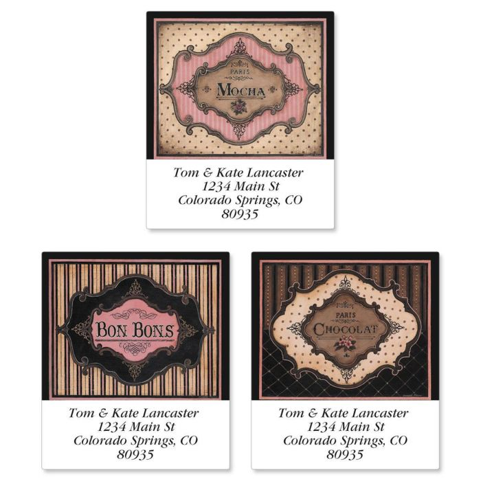 Parisian Sweets Select Return Address Labels  (3 Designs)