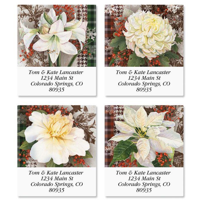Winter Blooms Select Return Address Labels  (4 Designs)