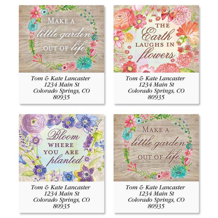 Spring Blossoms Select Return Address Labels  (4 Designs)