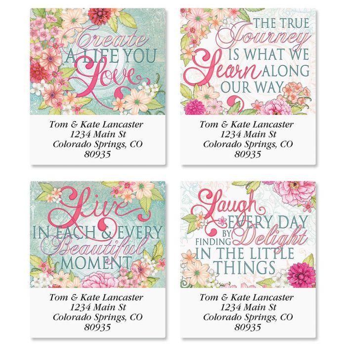 Vintage Floral Select Return Address Labels  (4 Designs)