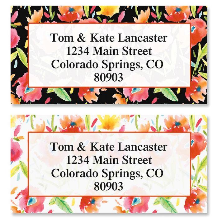 Red Roses Border Return Address Labels  (2 Designs)