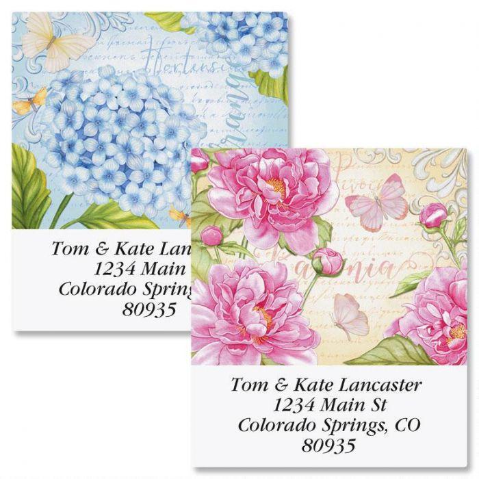 Floral Motif Select Return Address Labels  (2 Designs)