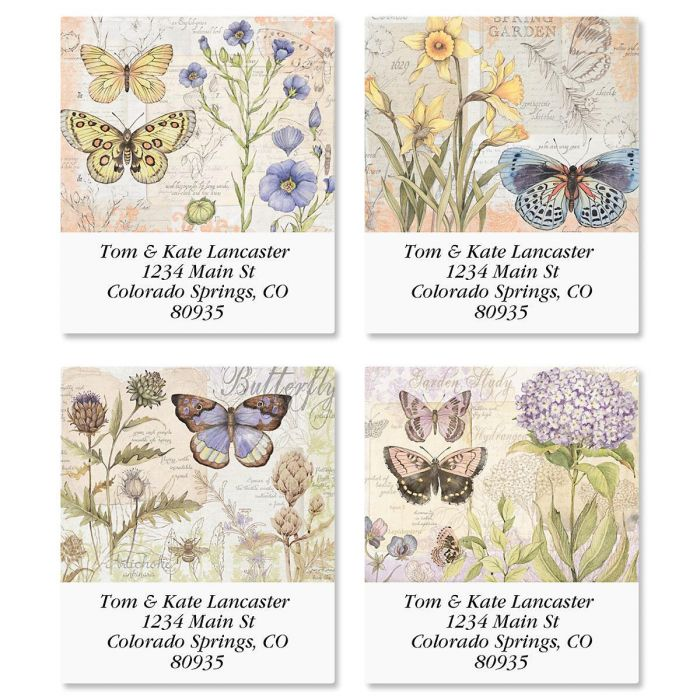 Butterfly Field Guide Select Return Address Labels  (4 Designs)