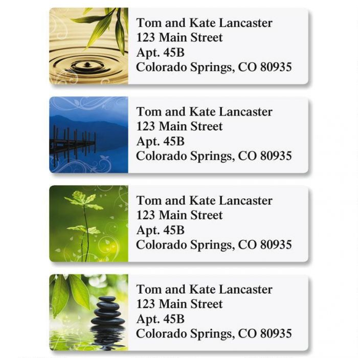 Tranquil Thoughts Classic Return Address Labels  (4 Designs)