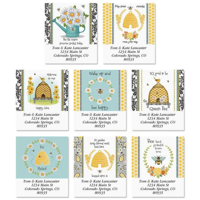 Garden Bee Select Return Address Labels  (8 Designs)