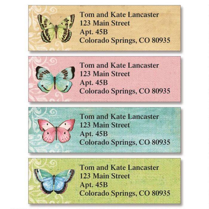 Butterfly Beauty Classic Return Address Labels  (4 Designs)