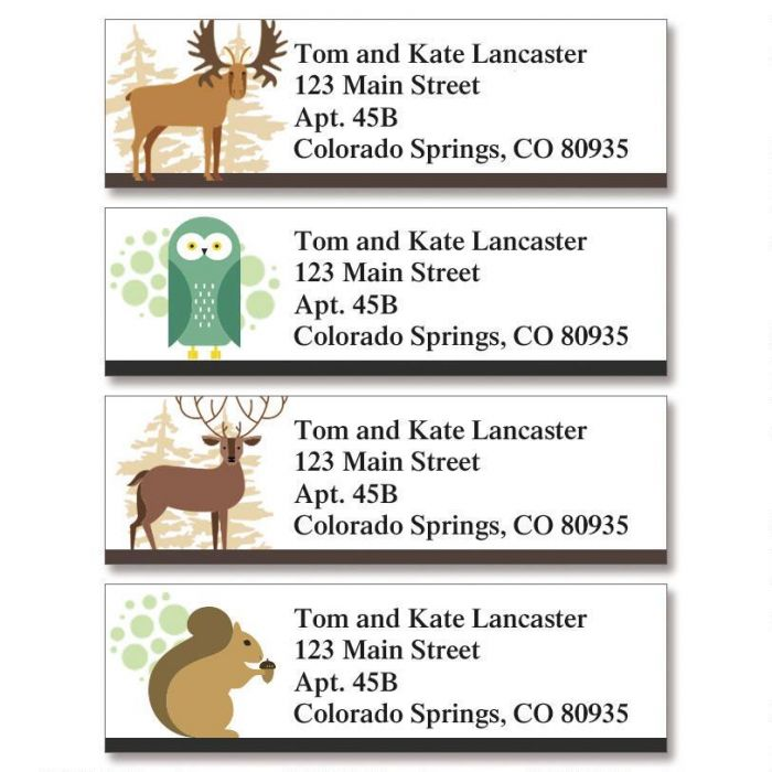 Into the Wild Classic Return Address Labels  (4 Designs)