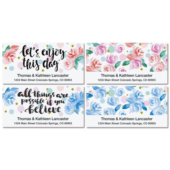 Enjoy the Day Deluxe Return Address Labels  (4 Designs)