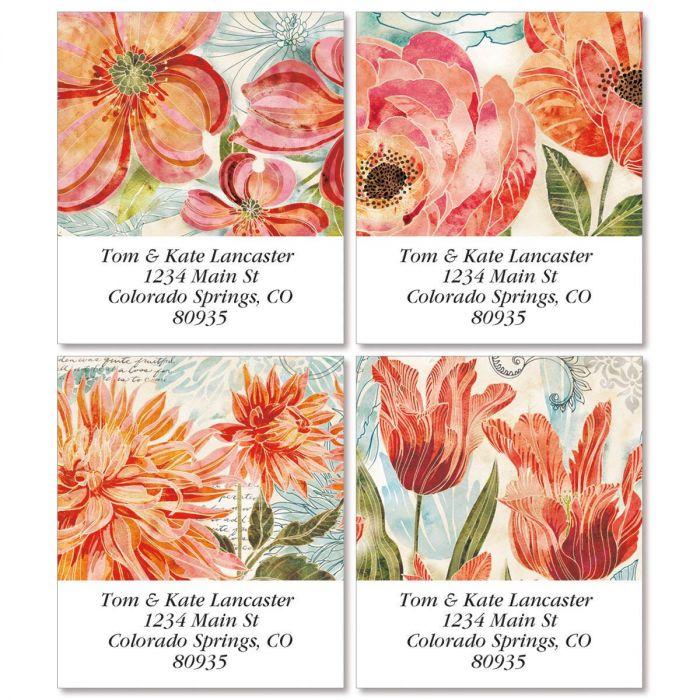 Floral Daydream Select Return Address Labels  (4 Designs)