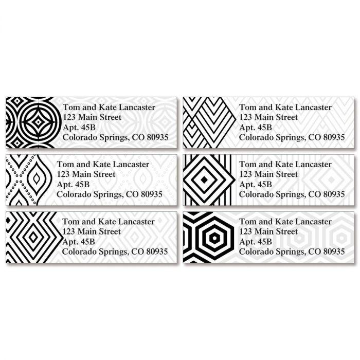 Modern Patterns Classic Return Address Labels  (6 Designs)