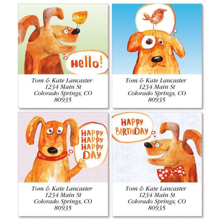 Nice Puppy Select Return Address Labels  (4 Designs)