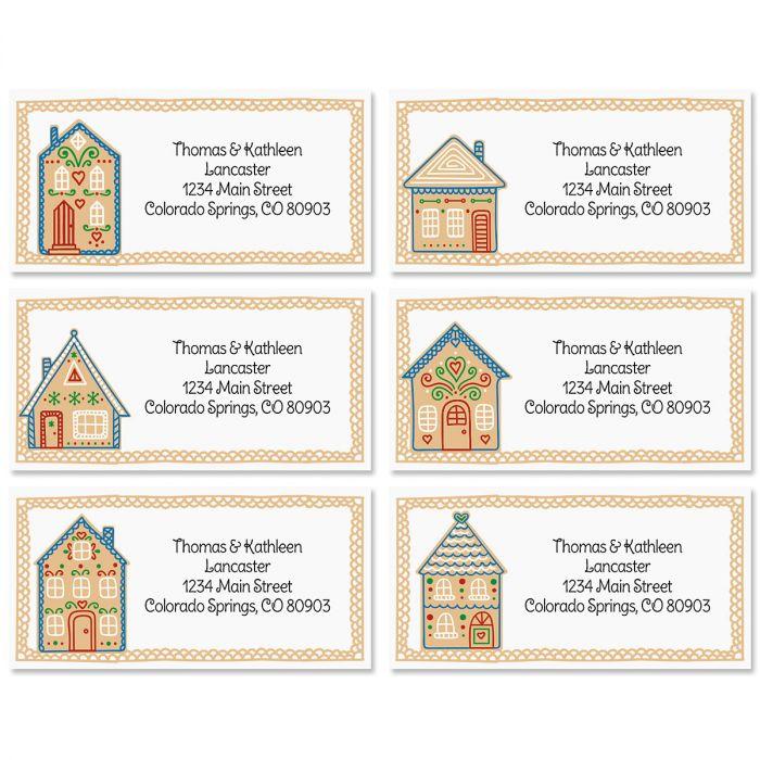 Home Sweet home Border Return Address Labels (6 Designs)