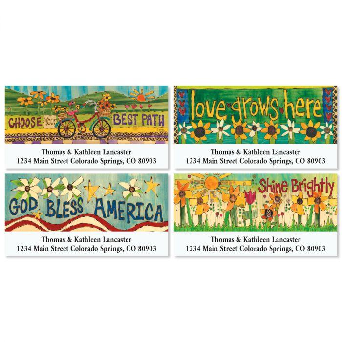 Garden Words Deluxe Return Address Labels (4 Designs)