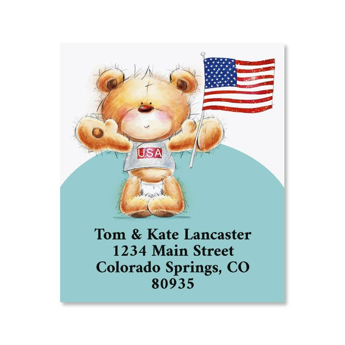 All Occasion Bear Select Return Address Labels (6 Designs)