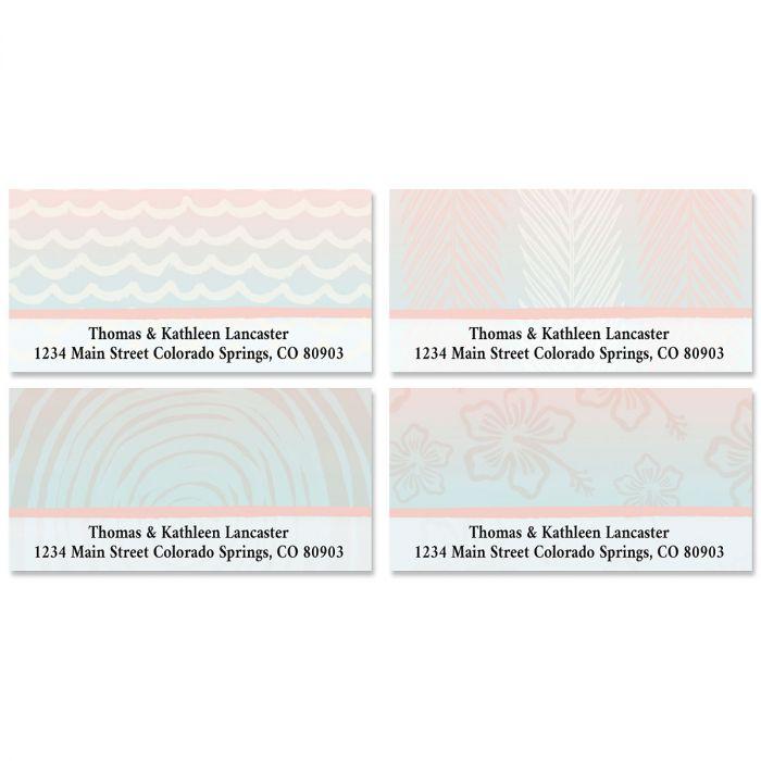 Tropical Escape Deluxe Address Labels