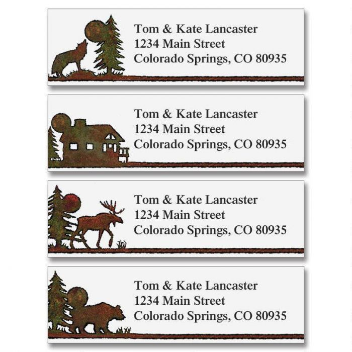 Country Lodge Classic Return Address Labels  (4 Designs)