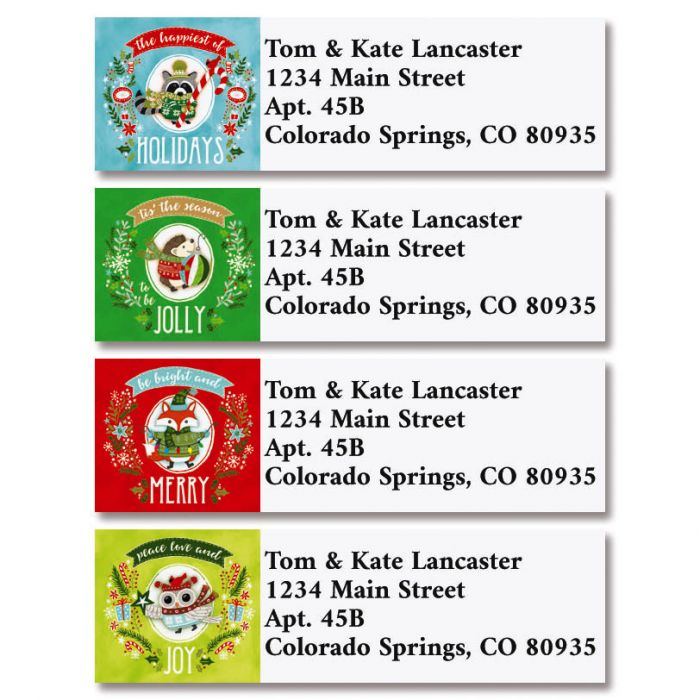 Merry & Bright Classic Return Address Labels (4 Designs)