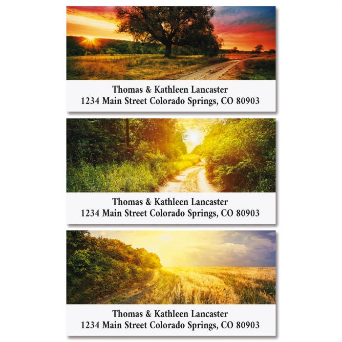 Country Roads Deluxe Return Address Labels (3 Designs)