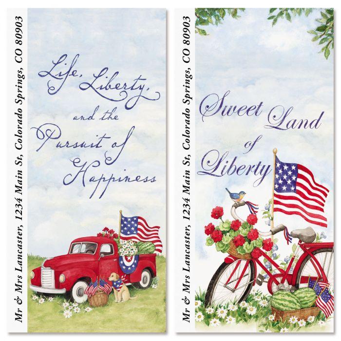 American Heritage Oversized Return Address Labels (2 Designs)