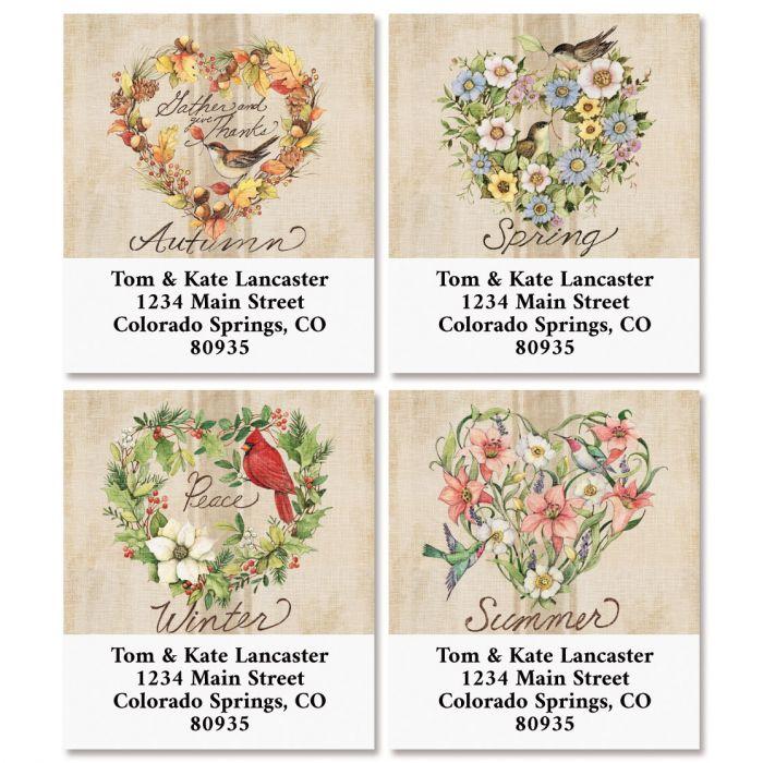 Season of Heart Select Return Address Labels (4 Designs)