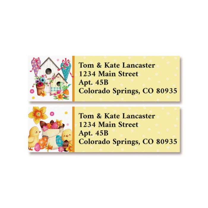 Easter Greetings Classic Return Address Labels (2 Designs)
