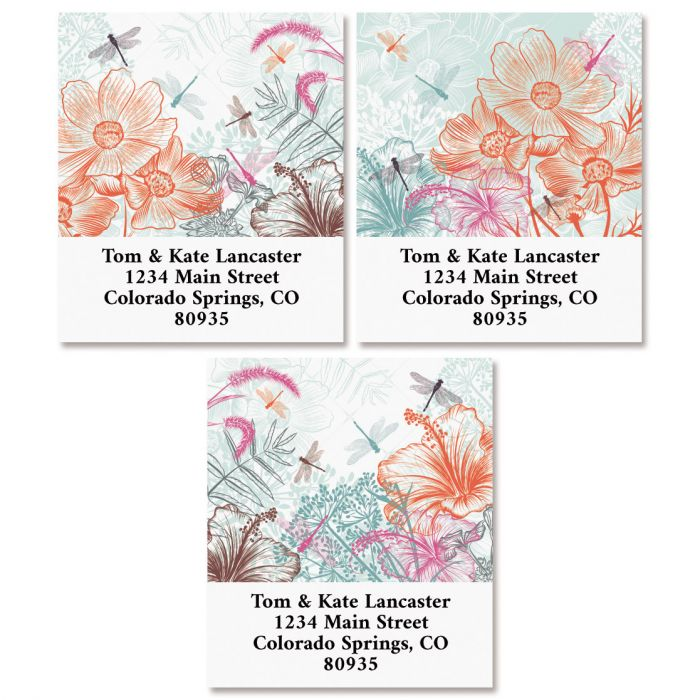 Dragonfly Dance Select Return Address Labels (3 Designs)