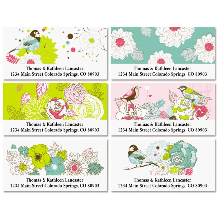 Daisy Dots Deluxe Return Address Labels (6 Designs)