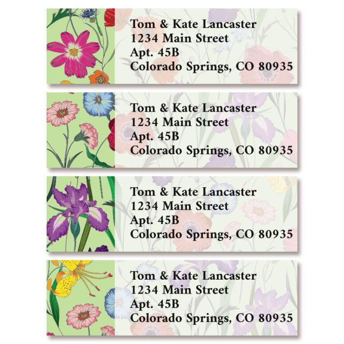 Flowers & Herbs Classic Return Address Labels (4 Designs)