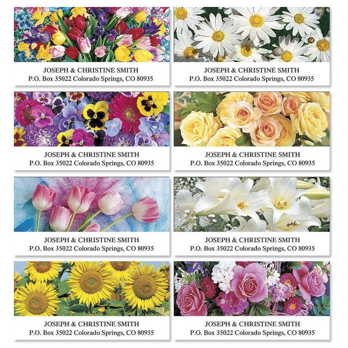 Beautiful Bouquets Deluxe Return Address Labels  (8 Designs)